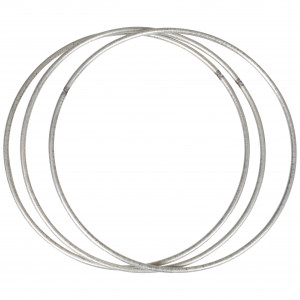Infinity Hearts Metallring Sølv Ø15cm - 3 stk