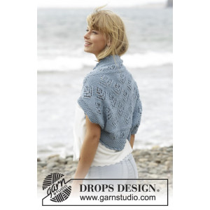 Beach Bolero by DROPS Design - Bolero Strikkeoppskrift str. S - XXXL