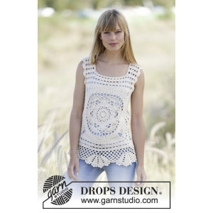 Elvira by DROPS Design - Topp Hekleoppskrift str. XS - XXL