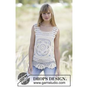 Elvira by DROPS Design - Topp Hekleopskrift str. XS/S - XL/XXL