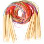 Infinity Hearts Rundpinnesett Bambus Natur/Print 120cm 2-10mm - 18 størrelser