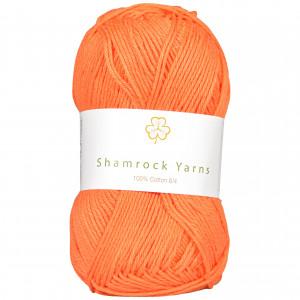 Shamrock Yarns 100% Bomull 8/4 Garn 24 Støvet Lys Oransje