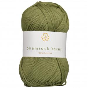 Shamrock Yarns 100% Bomull 8/4 Garn 14 Støvet Armygrønn