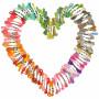 Infinity Hearts Moulinègarn / Broderigarn 100 Ass. farger