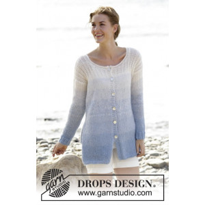 Sailing Cardigan by DROPS Design - Jakke Strikkeopskrift str. S - XXXL