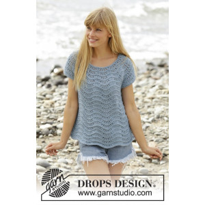 Shore Line by DROPS Design - Topp Strikkeoppskrift str. S - XXXL