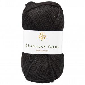 Shamrock Yarns 100% Bomull 8/4 Garn 01 Sort