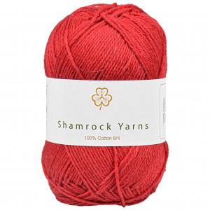 Shamrock Yarns 100% Bomull 8/4 Garn 21 Mørk Julerød