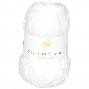 Shamrock Yarns 100% Bomull 8/4 Garn 02 Hvit