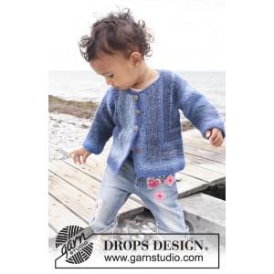 Corner Jacket by DROPS Design - Baby Jakke Strikkeoppskrift str. 1 mdr - 4 år