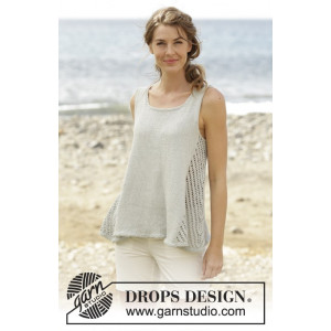 Venezia Top by DROPS Design - Topp Strikkeoppskrift str. S - XXXL