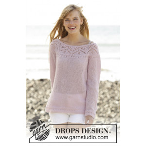 Pink Connection by DROPS Design - Genser Strikkeoppskrift str. S - XXXL