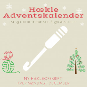 Adventskalender Jul 2020 - 4 Hekleoppskrifter