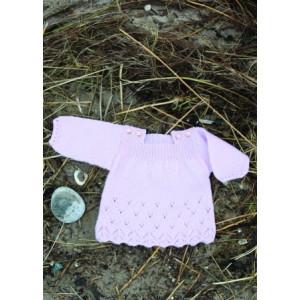 Mayflower Babykjole med Hullmønster - Tunika Strikkeopskrift str. 0/1 mdr - 4 år