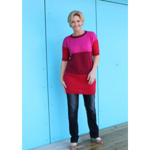 Mayflower T-skjorte-kjole - Tunika Strikkeoppskrift str. S - XXXL