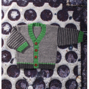 Mayflower Babygenser med V-hals - Genser Strikkeopskrift str. 0/1 mdr - 4 år