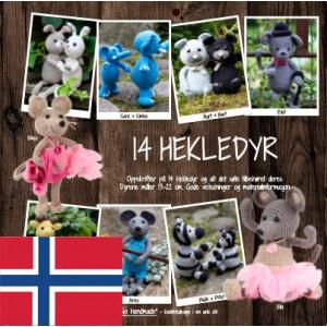 14 hekledyr - Bok fra Go Handmade