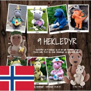 9 hekledyr - Bok fra Go Handmade