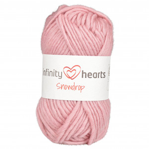 Infinity Hearts Snowdrop Garn 15 Pudderrosa