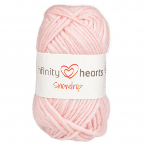 Infinity Hearts Snowdrop Garn 11 Lyserød