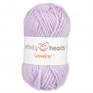 Infinity Hearts Snowdrop Garn 13 Lys Lilla