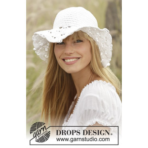 Country Girl by DROPS Design - Hatt Hekleoppskrift 54/56 - 58/60 cm