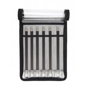 KnitPro Karbonz Strømpepinnesett Karbonfiber 20 cm 2,5-5 mm 6 størrelser