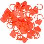 Infinity Hearts Maskemarkører Hjerte Rød 2x1,5cm - 30 stk