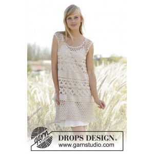 Summer Bliss by DROPS Design - Tunika Hekleoppskrift str. S - XXXL