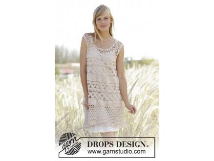 5499ca66253a Summer Bliss by DROPS Design - Tunika Hekleopskrift str. S - XXXL ...