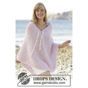 Sweet Crush by DROPS Design - Poncho Strikkeoppskrift str. S/M - XXXL