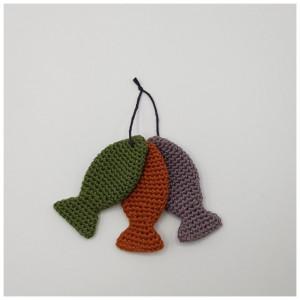 Bilde av 3 Små Fisk - Sangkoffert Av Rito Krea - Tre Små Fisk Hekleoppskrift