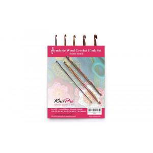 KnitPro Symfonie Heklenålsett Bjørk 15 cm 3-8 mm 10 størrelser Doppelte ender til Tunisisk hekling / Hakking