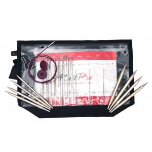 KnitPro Nova Metall Utskiftbare rundpinnesett Messing 60-80-100 cm 3,5-8 cm 8 størrelser Deluxe