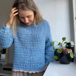 Lily's Sweater Rito Krea - Sweater Hekleoppskrift str. XS-XL