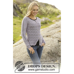 Erendis Cardigan by DROPS Design - Jakke Strikkeoppskrift str. S - XXXL