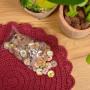Infinity Hearts Assorterte Knapper med motiv Kokos 20mm - 100 stk