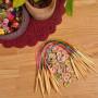 Infinity Hearts Rundpinnesett Bambus Natur/Print 40cm 2-10mm - 18 størrelser