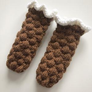 Bobledrøm sokker av Rito Krea - Babysokker Strikkeoppskrift 0-1 md.