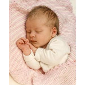 Dream Date by DROPS Design - Baby Teppe Strikkeoppskrift 34x51 cm eller 50x75 cm