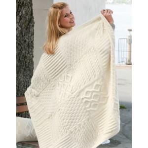 Warm Hug by DROPS Design - Teppe Strikkeoppskrift 126x96 cm