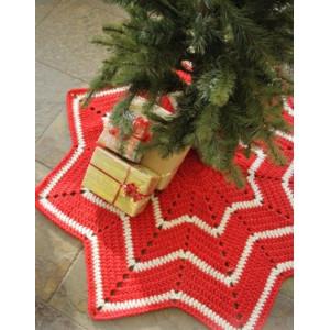 Under the Christmas Tree by DROPS Design - Juletresteppe Hekleoppskrift 95 cm