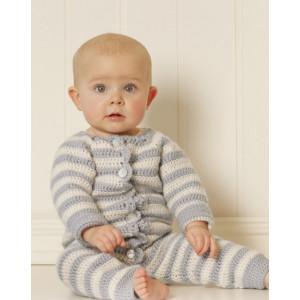 Baby Blues by DROPS Design - Baby heldrakt Hekleoppskrift str. 0 mdr - 4 år