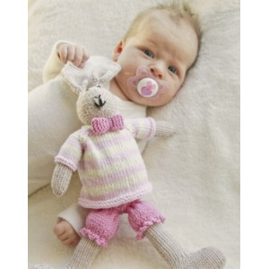 Mrs. Bunny by DROPS Design - Baby Bamse Strikkeoppskrift