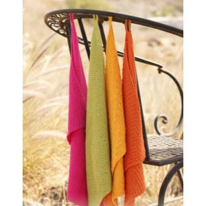 Summer Spices by DROPS Design - Håndklær Strikkeoppskrift 31x45 cm