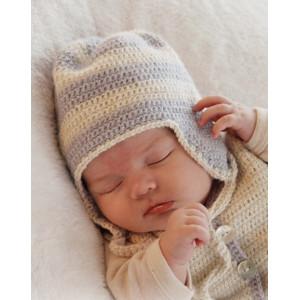 Heartthrob Hat by DROPS Design - Baby Lue Hekleoppskrift str. 1 mdr - 4 år