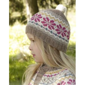 Prairie Fairy Hat by DROPS Design - Lue Strikkeoppskrift str. 3 - 12 år