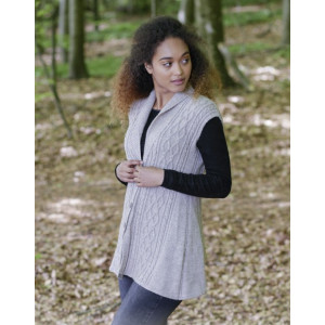Morgan's Daughter Vest by DROPS Design - Vest Strikkeoppskrift str. S - XXXL