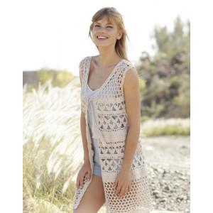 Summer Bliss Vest by DROPS Design - Vest Hekleoppskrift str. S - XXXL