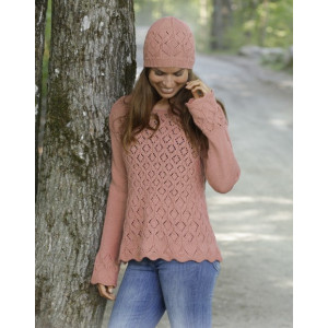 Lady Angelikaby DROPS Design - Bluse Strikkeoppskrift str. S - XXXL